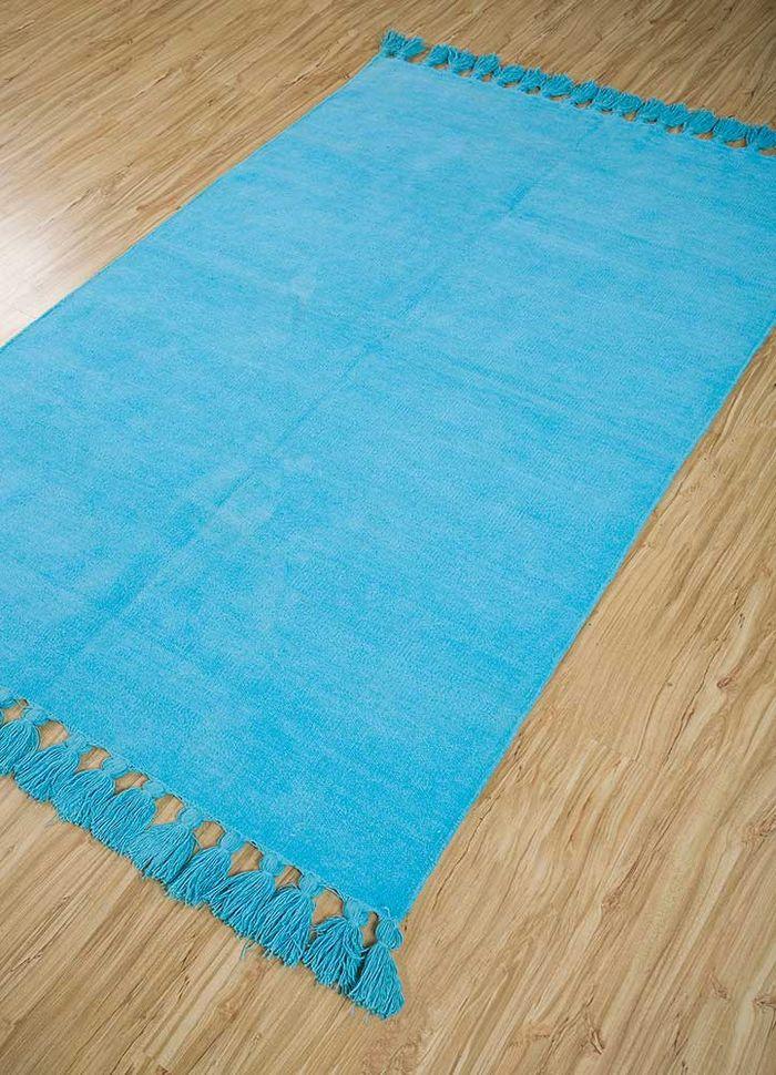 abrash blue others flat weaves Rug - FloorShot