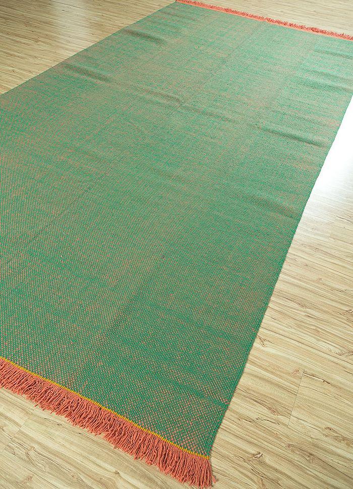 abrash pink and purple wool flat weaves Rug - FloorShot