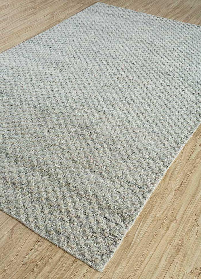 abrash beige and brown wool flat weaves Rug - FloorShot