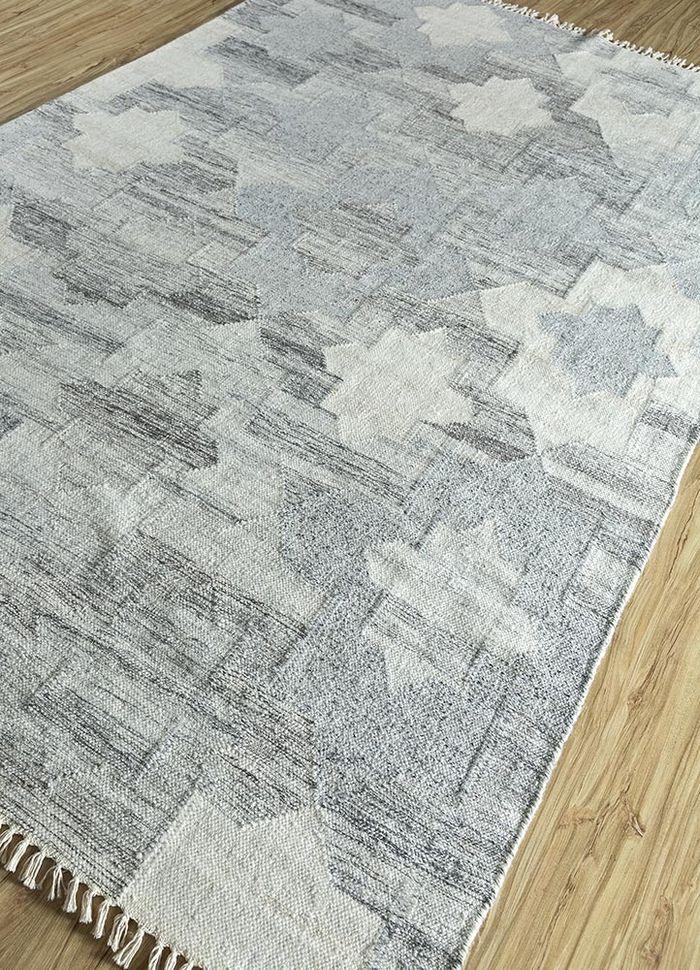 souk ivory wool and viscose flat weaves Rug - FloorShot