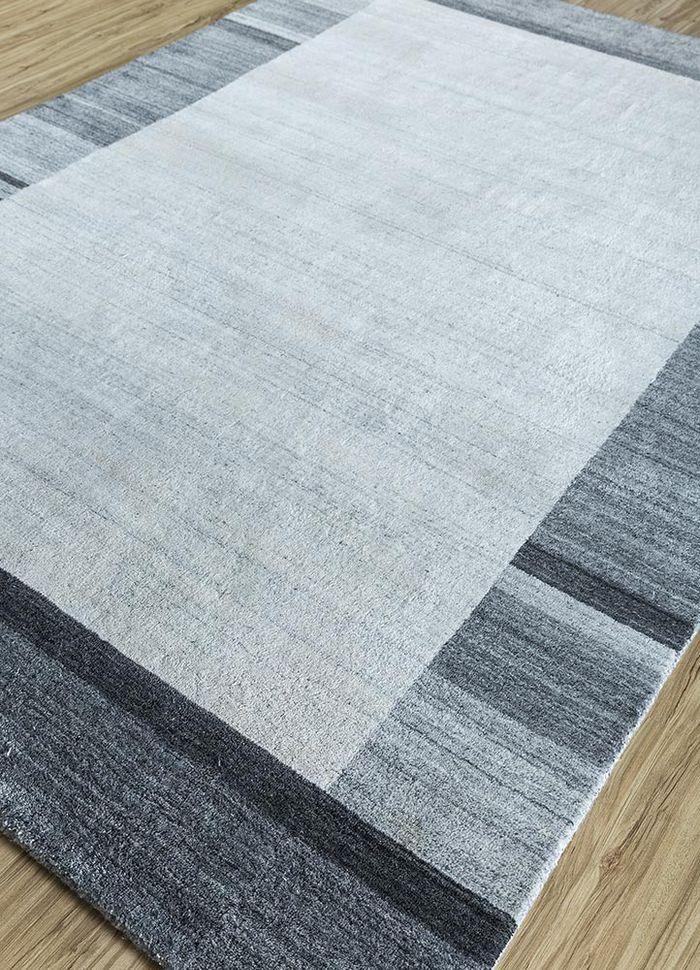 tesoro ivory wool and viscose hand loom Rug - FloorShot