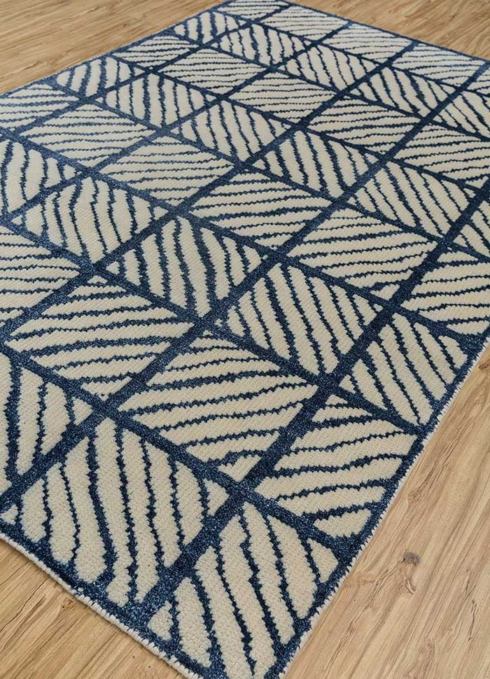 cleo ivory wool and bamboo silk hand knotted Rug - FloorShot