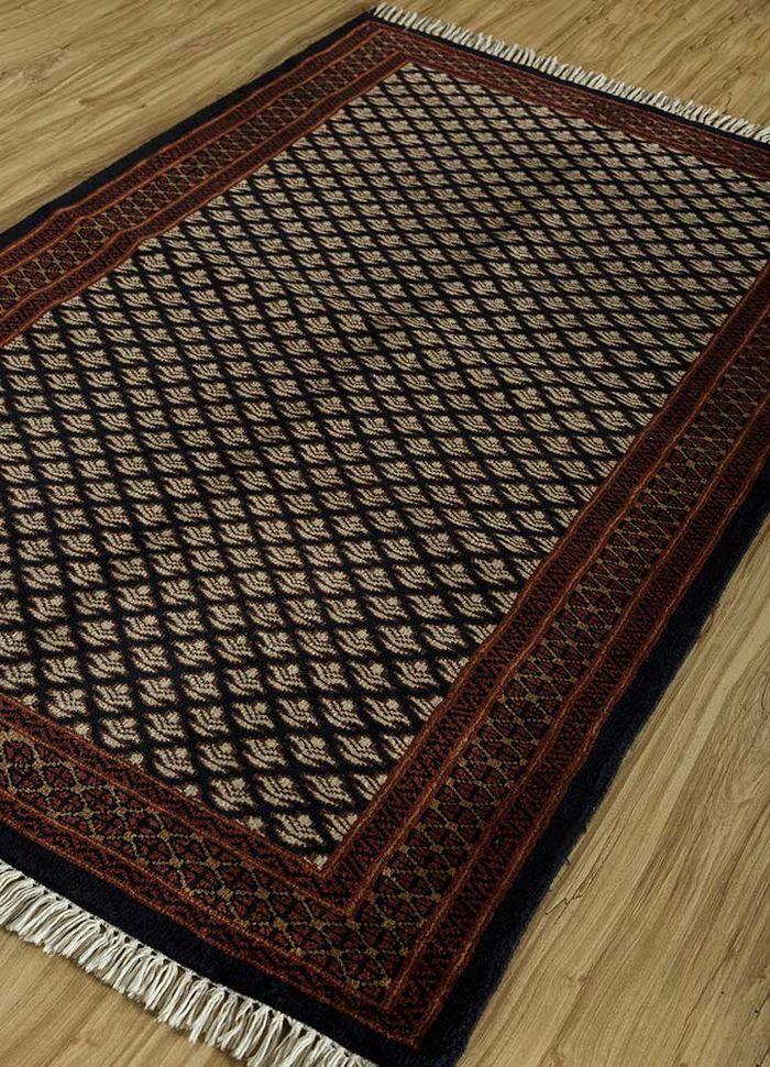 kiaan ivory wool hand knotted Rug - FloorShot