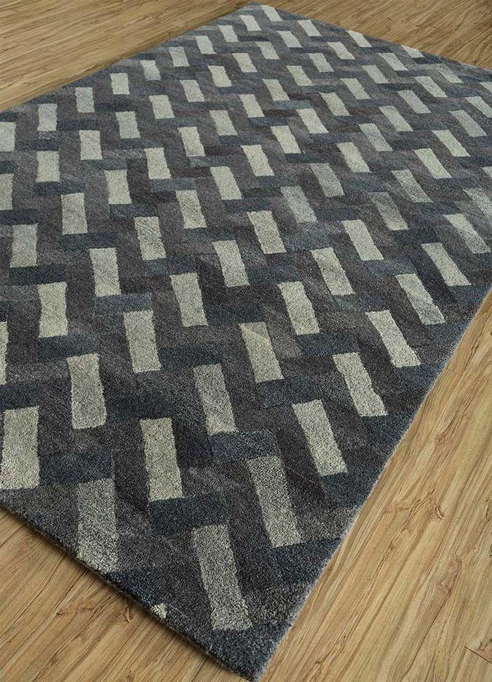 decade beige and brown wool hand tufted Rug - FloorShot