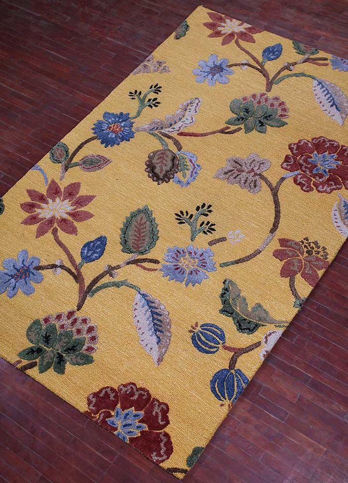 hacienda gold wool and viscose hand tufted Rug - FloorShot