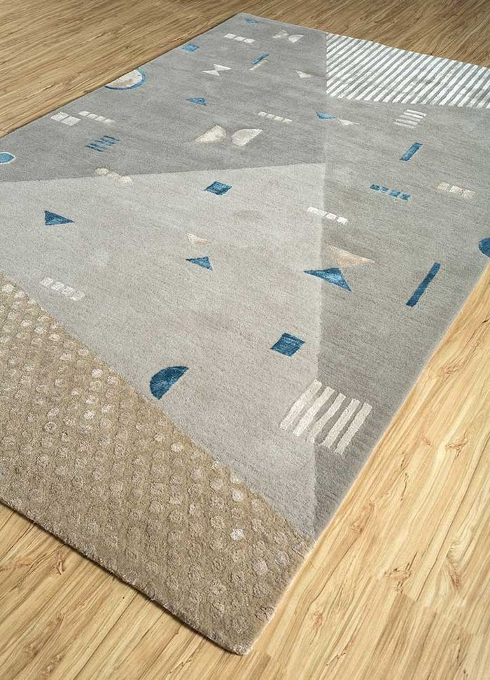 confetti grey and black wool and viscose hand tufted Rug - FloorShot