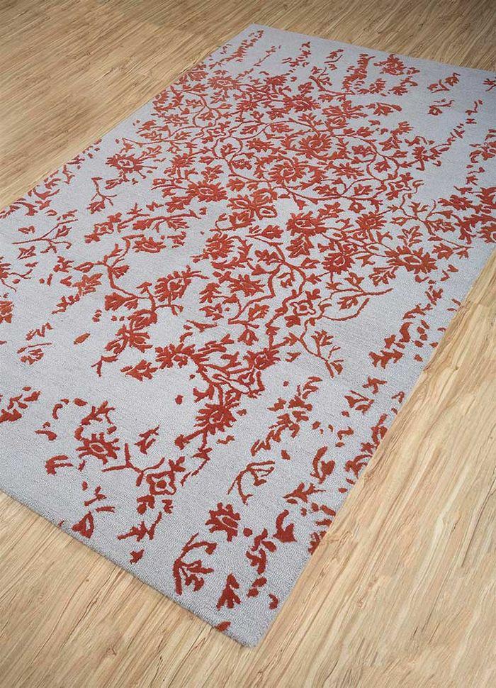 kilan grey and black wool hand tufted Rug - FloorShot