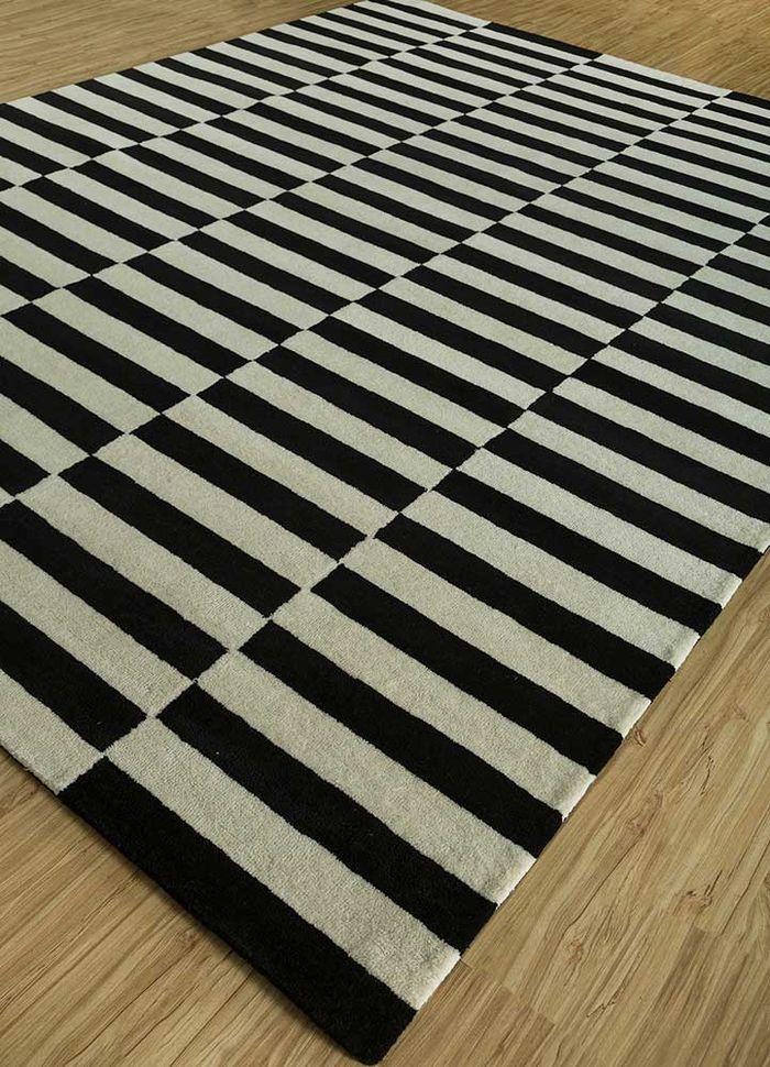 cascade grey and black wool hand tufted Rug - FloorShot