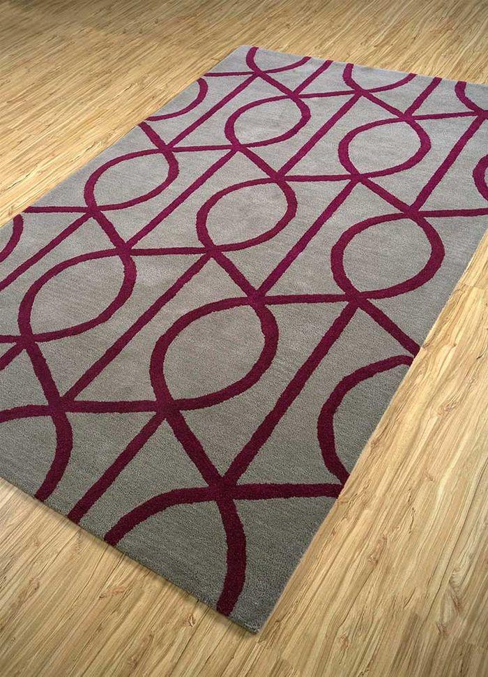 contour beige and brown wool hand tufted Rug - FloorShot