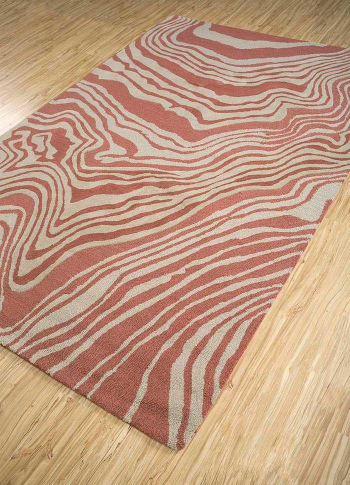 transcend red and orange wool hand tufted Rug - FloorShot