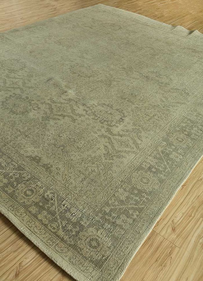 revolution gold wool hand knotted Rug - FloorShot