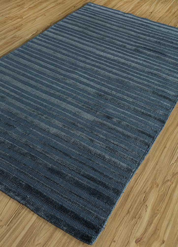 tesoro blue bamboo silk hand loom Rug - FloorShot
