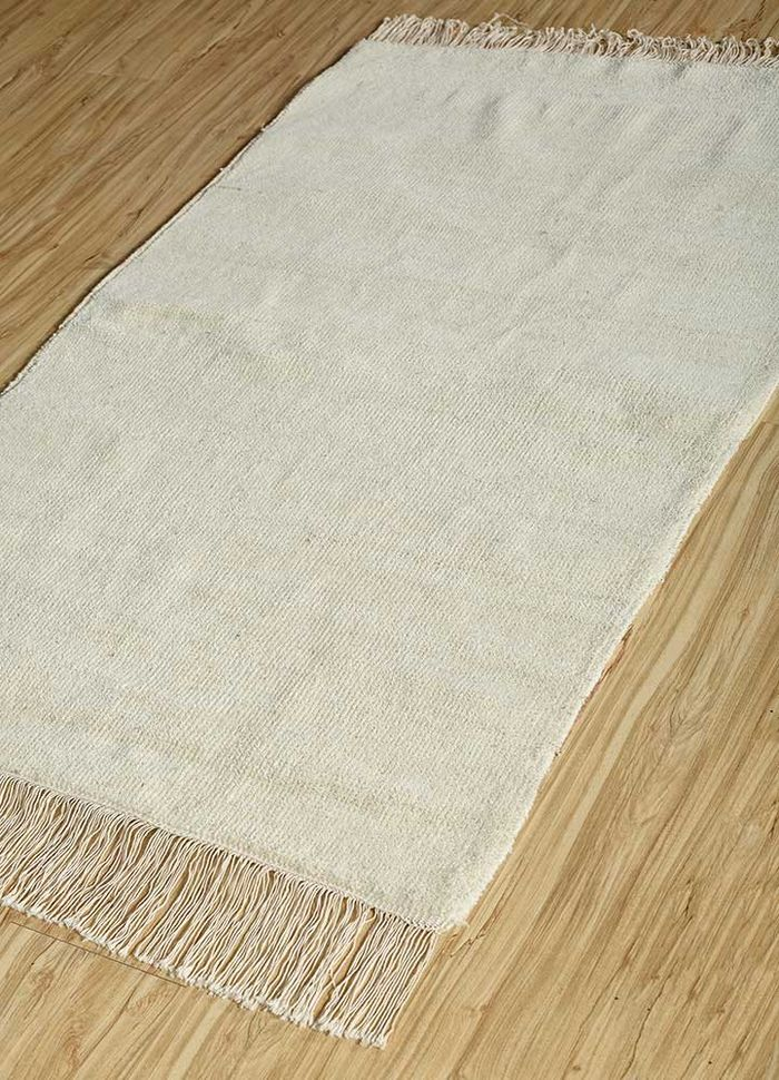 legion ivory wool hand knotted Rug - FloorShot