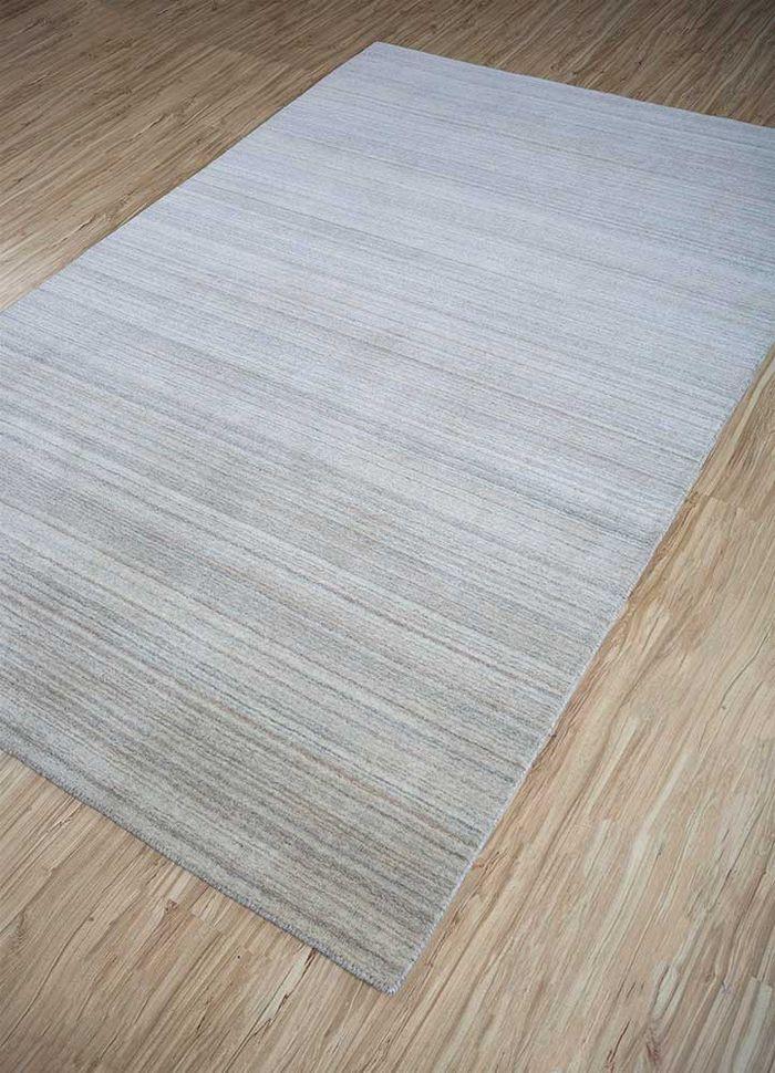 tesoro beige and brown wool hand loom Rug - FloorShot