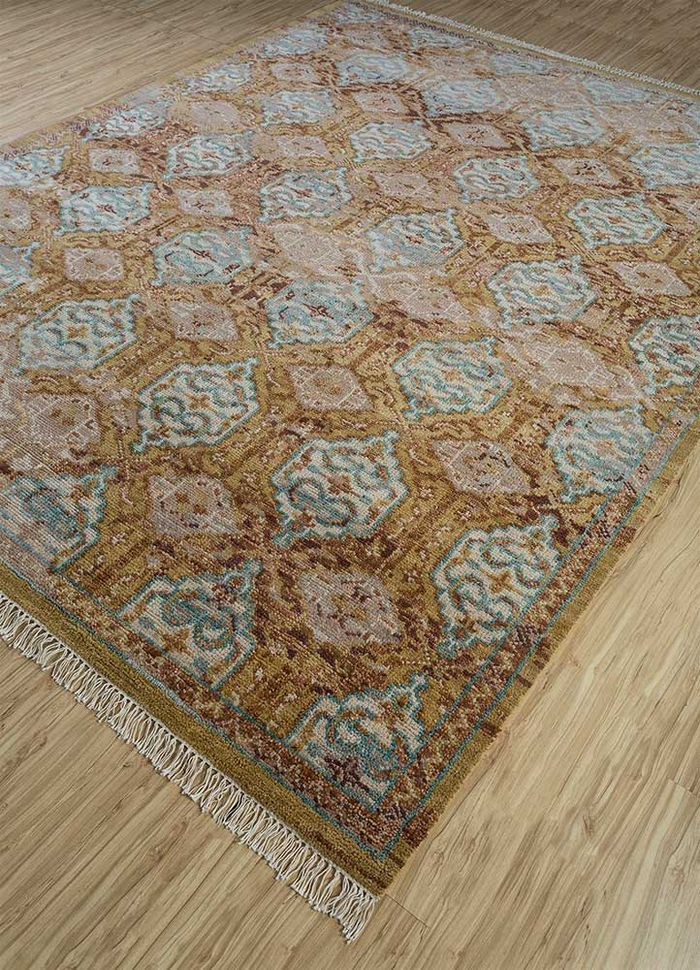 eden pink and purple wool hand knotted Rug - FloorShot