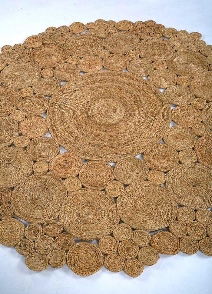 anatolia beige and brown jute and hemp flat weaves Rug - FloorShot