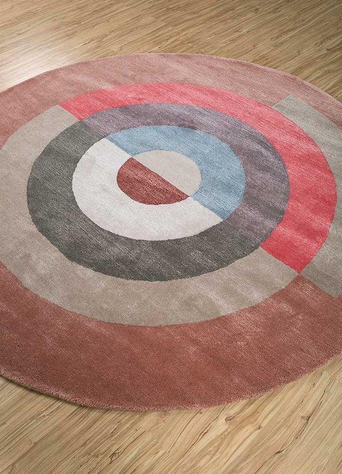 confetti red and orange wool hand tufted Rug - FloorShot
