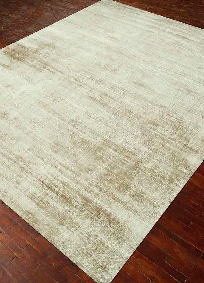 basis beige and brown viscose hand loom Rug - FloorShot