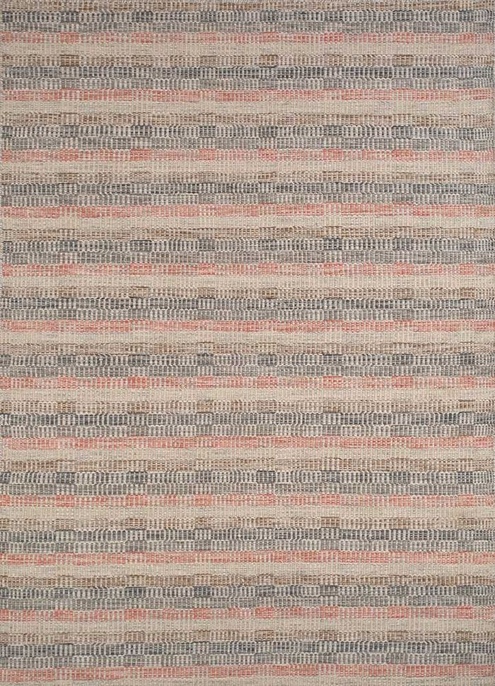 aqua ivory wool flat weaves Rug - HeadShot