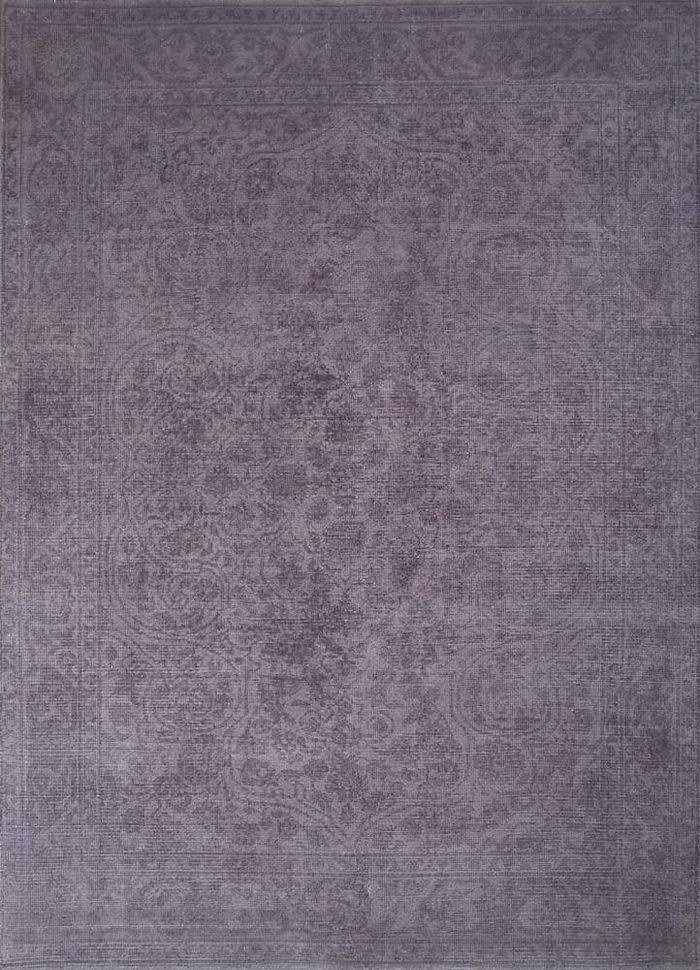 revolution grey and black wool hand knotted Rug - HeadShot