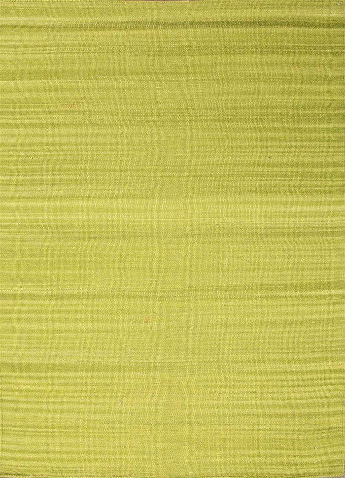 abrash green wool flat weaves Rug - HeadShot