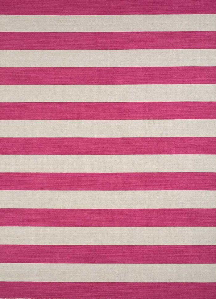aqua pink and purple wool flat weaves Rug - HeadShot