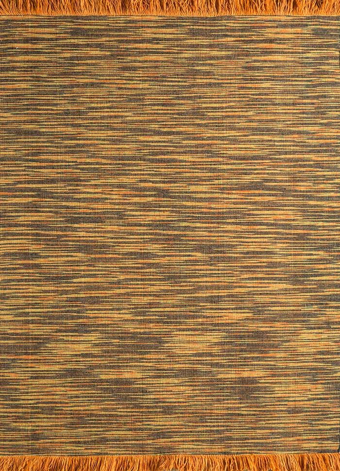 abrash red and orange wool flat weaves Rug - HeadShot