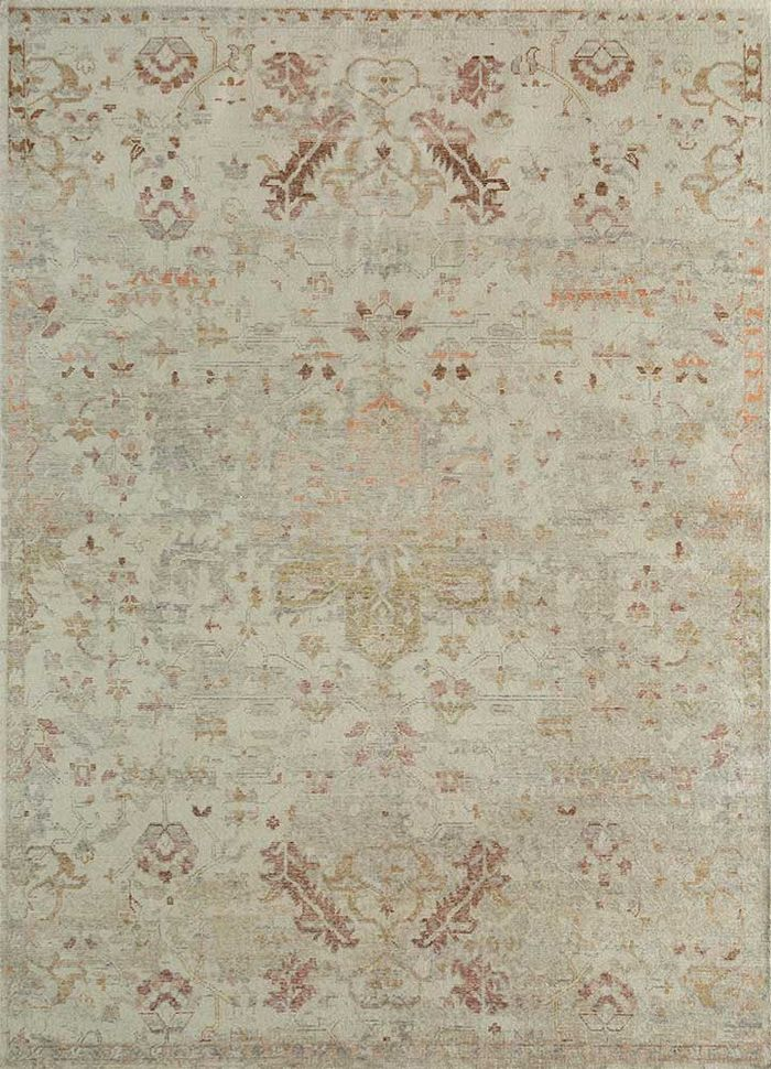 eden ivory wool hand knotted Rug - HeadShot