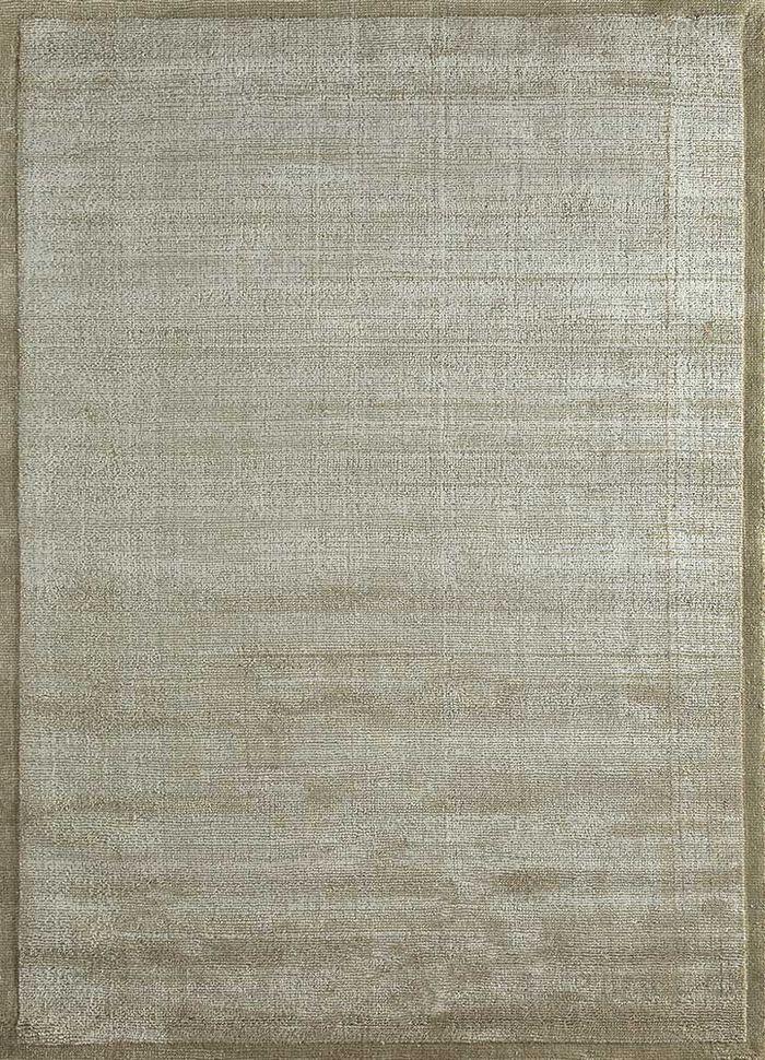 konstrukt beige and brown wool and viscose hand loom Rug - HeadShot