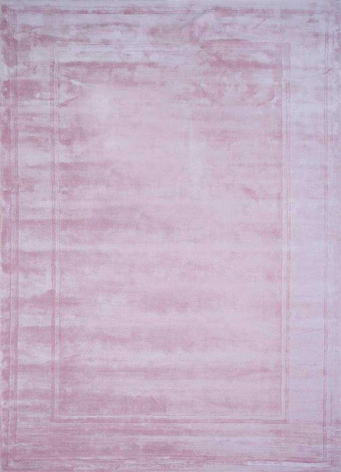 yasmin pink and purple viscose hand loom Rug - HeadShot