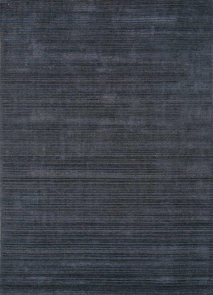 oxford blue wool hand loom Rug - HeadShot