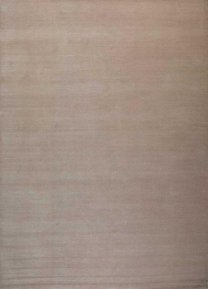 basis pink and purple wool and viscose hand loom Rug - HeadShot