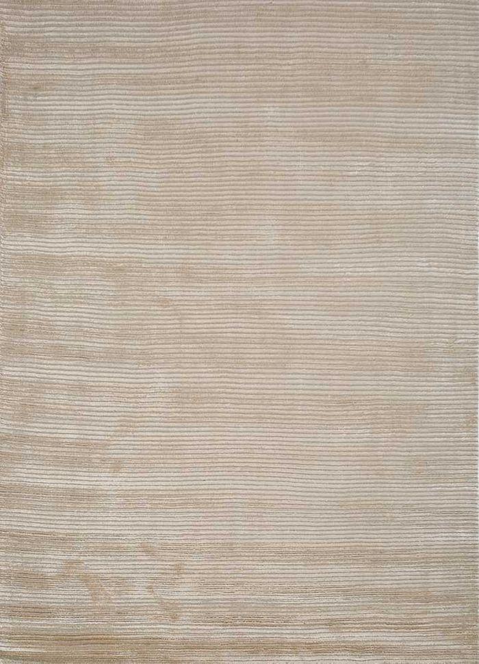 basis beige and brown wool and viscose hand loom Rug - HeadShot