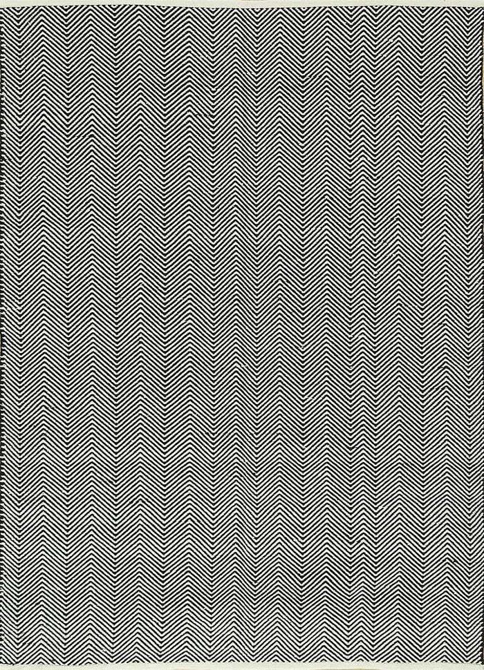 aqua grey and black cotton flat weaves Rug - HeadShot