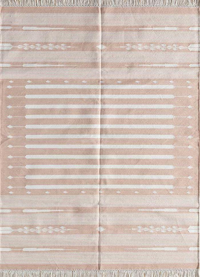 bedouin red and orange cotton flat weaves Rug - HeadShot