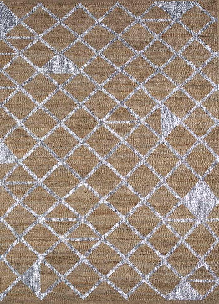 aprezo beige and brown jute and hemp flat weaves Rug - HeadShot
