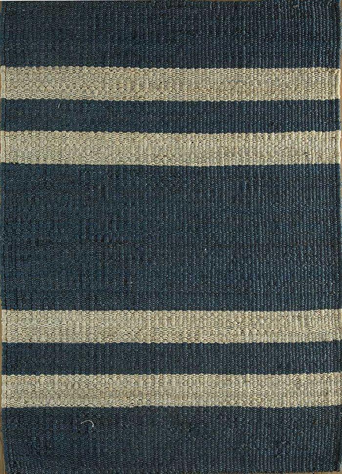 aqua blue jute and hemp flat weaves Rug - HeadShot