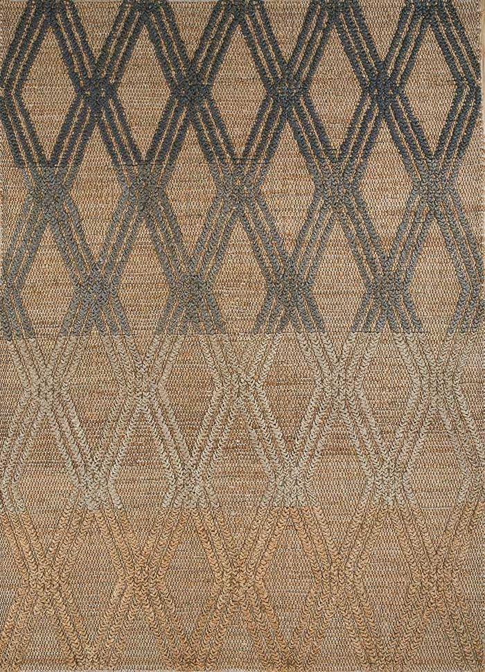 anatolia beige and brown jute and hemp flat weaves Rug - HeadShot