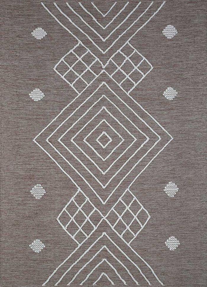 anatolia grey and black cotton flat weaves Rug - HeadShot