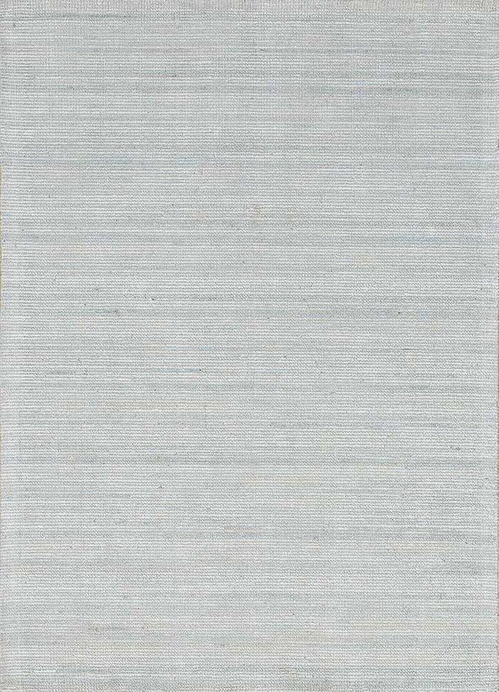 oxford blue cotton hand loom Rug - HeadShot