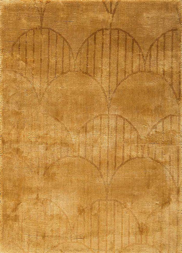 graze gold viscose hand loom Rug - HeadShot