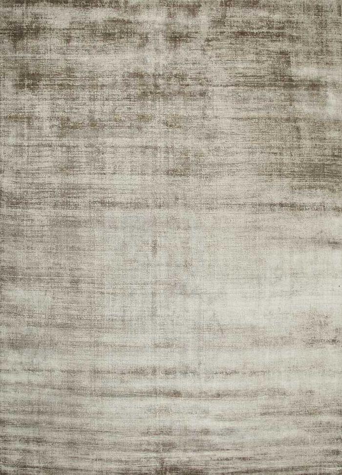 basis beige and brown viscose hand loom Rug - HeadShot