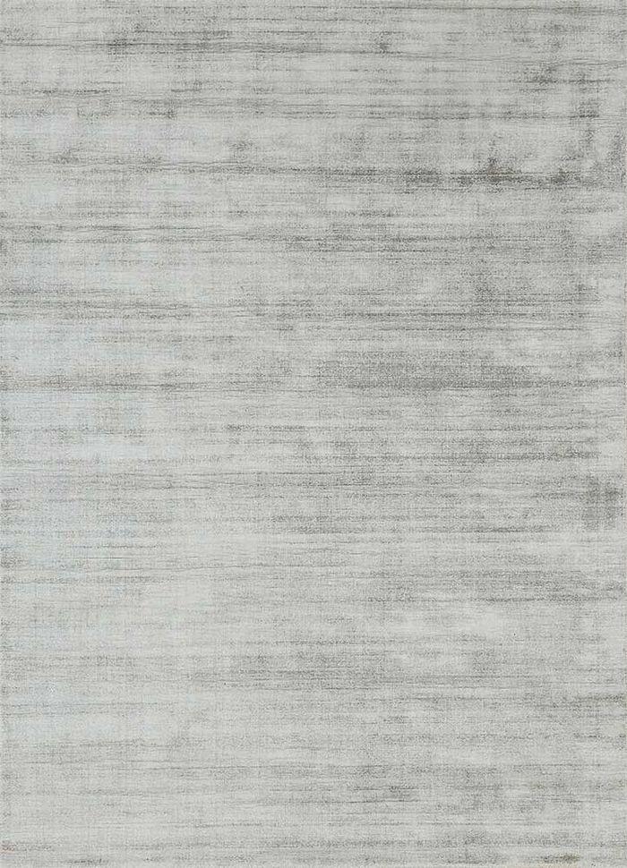 basis grey and black viscose hand loom Rug - HeadShot