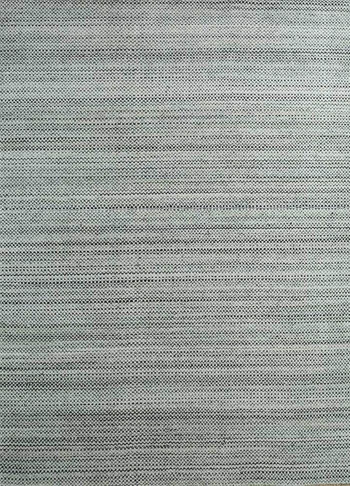 graze blue wool hand loom Rug - HeadShot