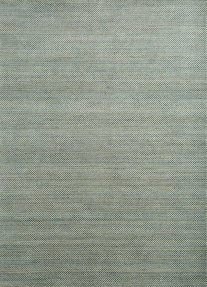 graze green wool hand loom Rug - HeadShot