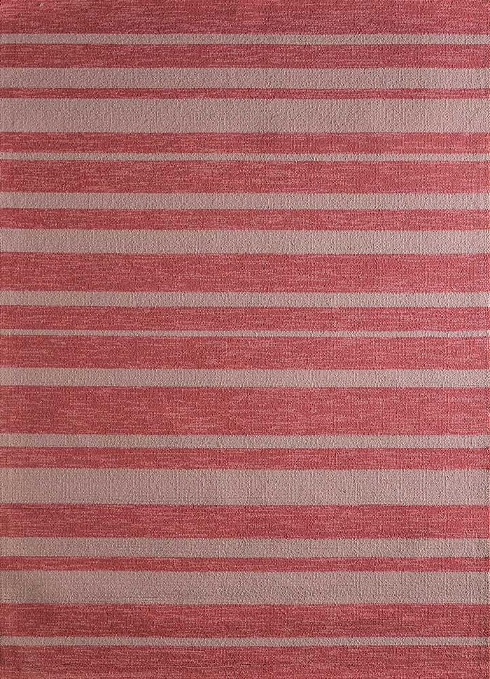 traverse red and orange others hand tufted Rug - HeadShot