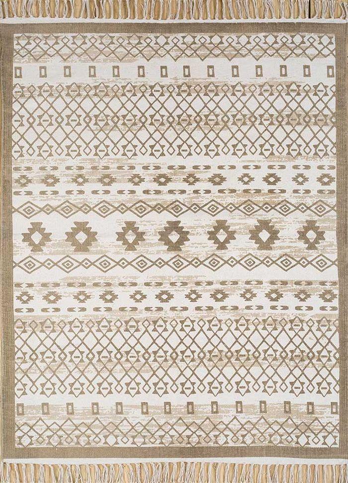 bedouin ivory cotton flat weaves Rug - HeadShot