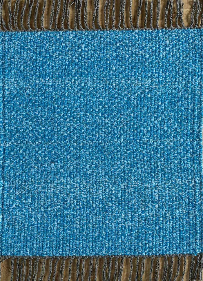 abrash blue others flat weaves Rug - HeadShot