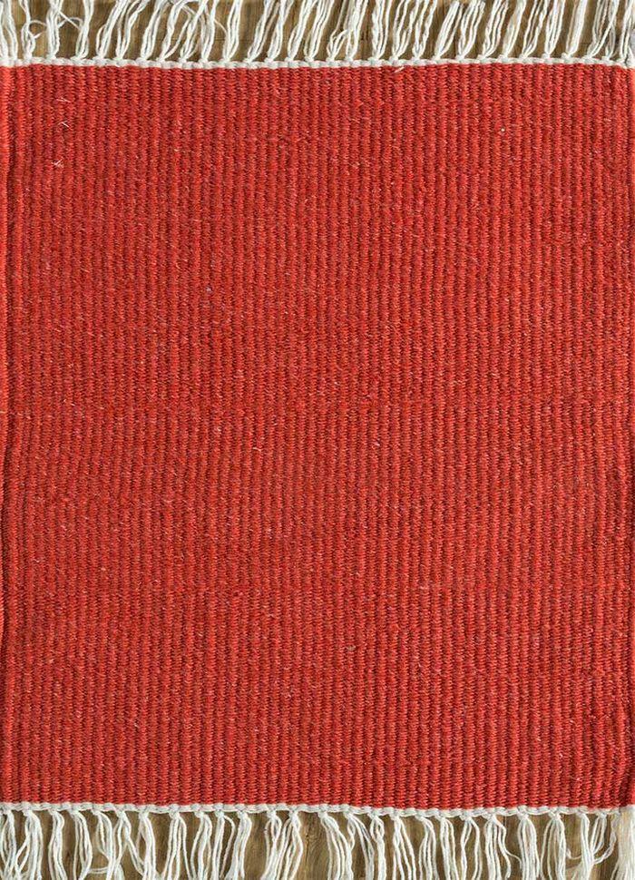 abrash red and orange others flat weaves Rug - HeadShot