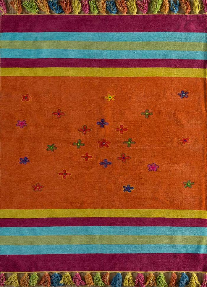 bedouin red and orange others flat weaves Rug - HeadShot